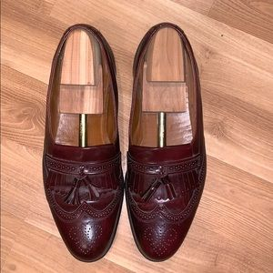 Bostonian wingtip brown leather liafers size 12